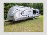 For sale is a 2014 cougar high country travel trailer.