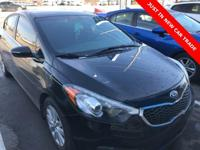 CARFAX One-Owner. Black 2014 Kia Forte EX FWD 6-Speed
