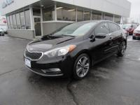 Aurora Black 2014 Kia Forte EX FWD 6-Speed Automatic