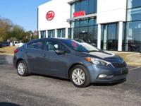 Steel Blue 2014 4D Sedan Kia Forte EX FWD 6-Speed