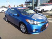 This 2014 Kia Forte Koup EX, has a great Blue exterior,