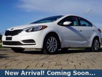 2014 Kia Forte LX in Snow White Pearl, This Forte comes