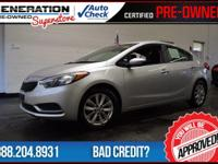 Kia Certified and 2014 Kia Forte. Your lucky day! Don't