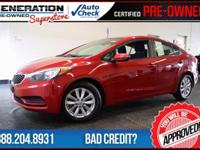 Kia Certified and 2014 Kia Forte. Red and Ready!