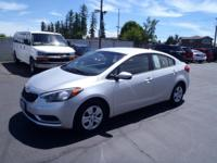 CARFAX One-Owner. 2014 Kia Forte LX Silver One Owner,