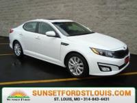 2014 Kia Optima EX Snow White Pearl, Moonroof, Recent