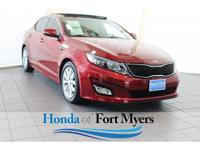 CARFAX One-Owner. Clean CARFAX. Red 2014 Kia Optima EX