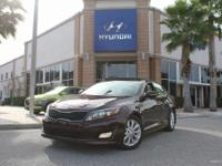 CARFAX One-Owner. Dark Cherry 2014 Kia Optima EX FWD