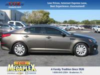 This 2014 Kia Optima EX in is well equipped with: 34/23