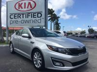 2014 Kia Optima EX in Silver, *KIA Certified*, *All