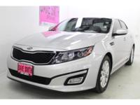 This 2014 Kia Optima  has a 2.4 liter 4 Cylinder Engine