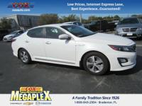 New Price! This 2014 Kia Optima Hybrid LX in Snow White