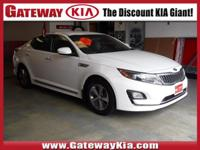 KIA CERTIFIED, THIS OPTIMA HYBRID Has BLUETOOTH HANDS