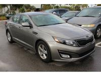 CARFAX One-Owner. Titanium Silver 2014 Kia Optima LX