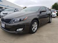 Options:  2014 Kia Optima Lx|Brown|What You Can Expect
