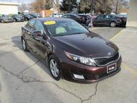 Options:  2014 Kia Optima 4D Sedan Lx|Maroon|Fwd|Auto