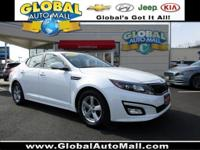 KIA CERTIFIED !! Great deal on this 1-owner Kia Optima.