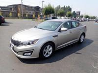 CARFAX One-Owner. 2014 Kia Optima LX Silver One Owner,
