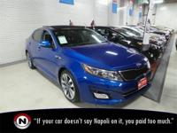 Certified. Blue 2014 Kia Optima SX Turbo FWD Automatic