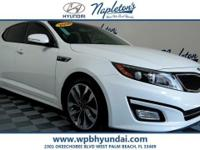 2014 Kia White Optima Clean CARFAX. CARFAX One-Owner.