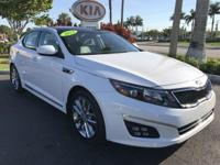 2014 Kia Optima SX in White, *KIA Certified*, *All