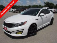 Leather. Clean CARFAX. Snow White Pearl 2014 Kia Optima