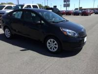 Clean CARFAX. Aurora Black 2014 Kia Rio LX FWD 6-Speed