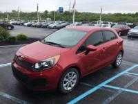 CARFAX One-Owner. Clean CARFAX. Red 2014 Kia Rio LX FWD