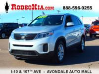 New Arrival! This 2014 Kia Sorento LX will sell fast