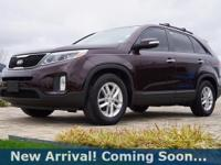 2014 Kia Sorento LX in Dark Cherry, This Sorento comes