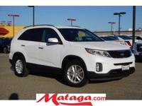 2014 Kia Sorento LX in Snow White Pearl with Black