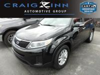 CarFax 1-Owner, This 2014 Kia Sorento LX will sell fast