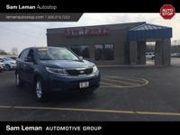 Very nice 2014 Kia Sorento LX in Wave Blue! A great