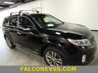 New Price! Clean CARFAX. Black 2014 Kia Sorento SX AWD