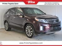 CARFAX One-Owner! 2014 Kia Sorento SX in Dark Cherry!