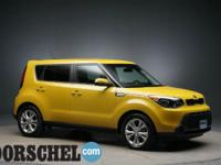 Yellow 2014 Kia Soul Plus with very low miles!!Here at