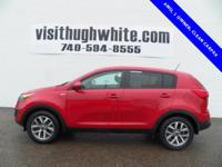2014 Kia Sportage LX AWD The odometer is 27098 miles