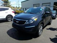 Black 2014 Kia Sportage LX FWD 6-Speed Automatic 2.4L
