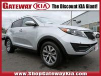 CARFAX One-Owner.Certified. Bright Silver 2014 Kia