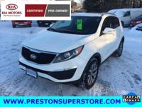 Options:  2014 Kia Sportage Lx|White|*** One