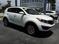 2014 Kia Sportage LX in White, *Passed 150 Point