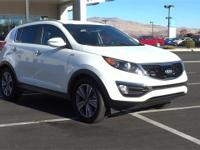 CARFAX One-Owner. Clean CARFAX. White 2014 Kia Sportage
