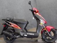 we have a brand new 2014 KYMCO 50cc scooter. No