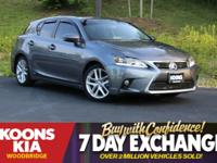 2014 Lexus CT 200h Gray **SUNROOF/MOONROOF**, **LEXUS