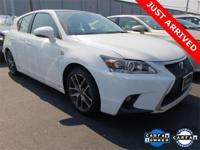 2014 Lexus CT 200h F SPORT Ultra White w/Black Roof and