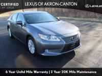 CARFAX One-Owner. Clean CARFAX. Gray 2014 Lexus ES 350