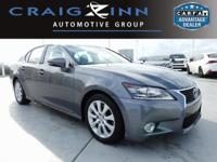 CARFAX One-Owner. Clean CARFAX. Gray 2014 Lexus GS 350
