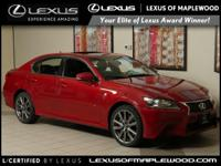 L/ Certified CARFAX 1-Owner LOW MILES - 33 444! GS 350