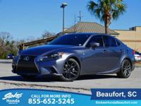 CARFAX One-Owner. Gray 2014 Lexus IS 250 RWD 6-Speed