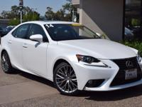 CARFAX One-Owner. Clean CARFAX. WHITE 2014 Lexus IS 250